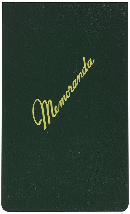 "5 Pcs AbilityOne Memoranda Military Notebook  3 3⁄8"" x 5 1⁄2"" Ruled Dark Green 5 Pack"