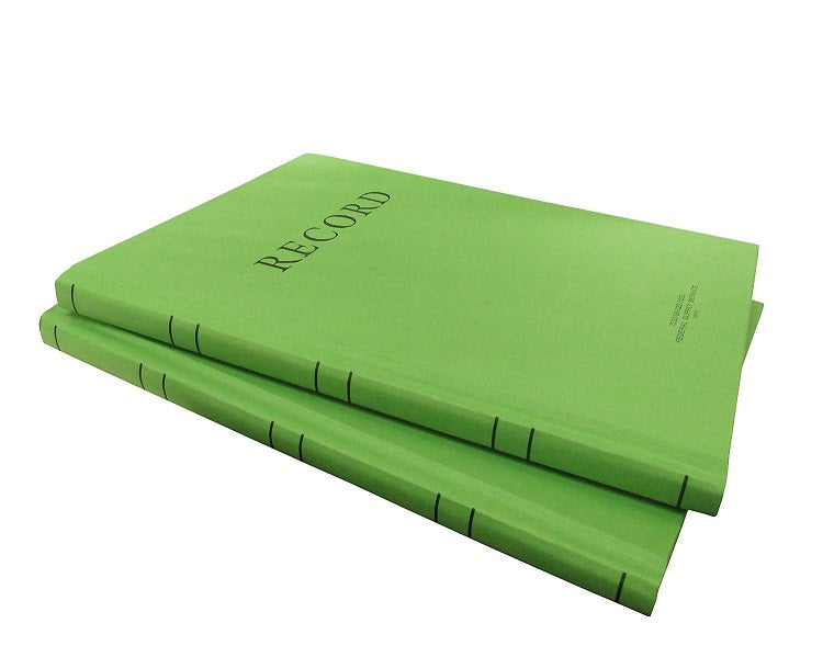 "2 Pcs AbilityOne Memorandum Log Book  8"" x 10 1⁄2"" 192 Pages Ruled Green 2 Pack"