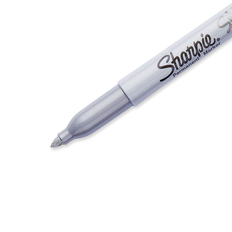 24 Pcs Sharpie Fine Point Permanent Marker in Metallic Silver Ink - 2 Pack