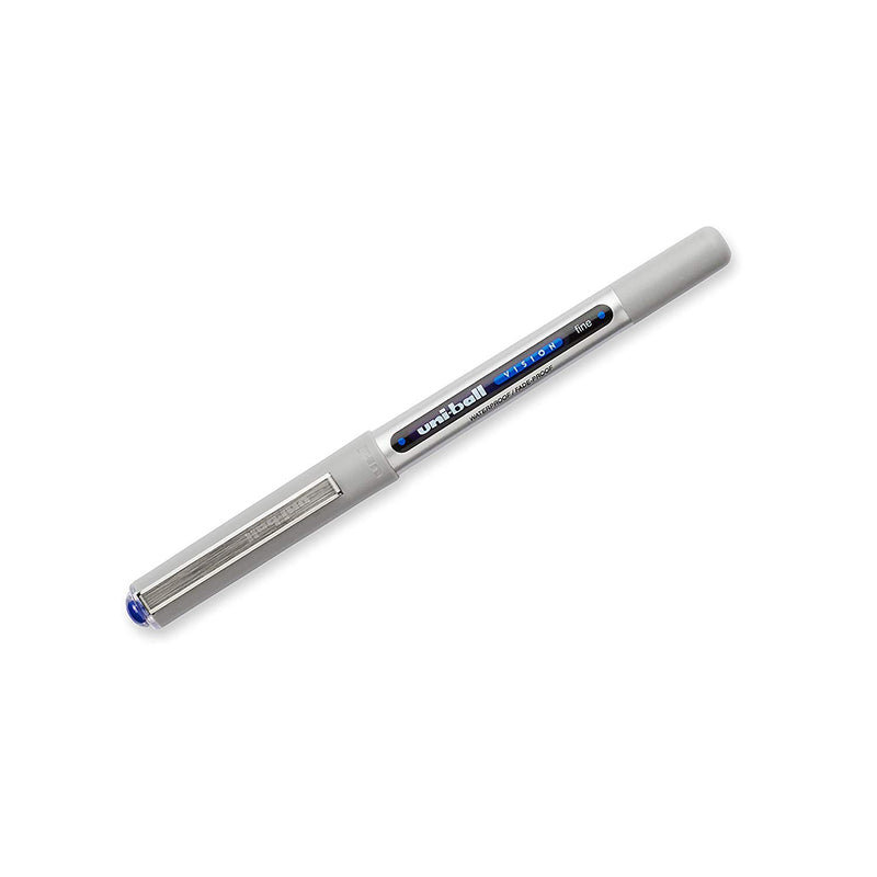 12 Pcs Uni-ball Vision Rollerball Pens Fine Point (0.7mm) Blue -1 Box