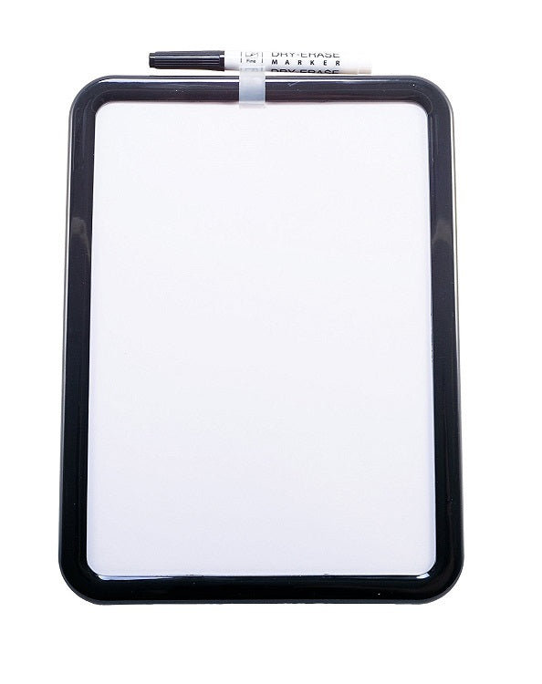 "2Pcs Kamset Dry Erase Board 11.25"" x 8.5"" Black or White 2 Pack"