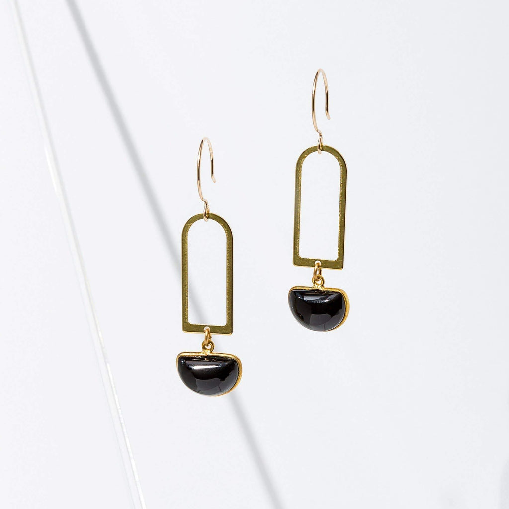 Casablanca Earrings in Onyx