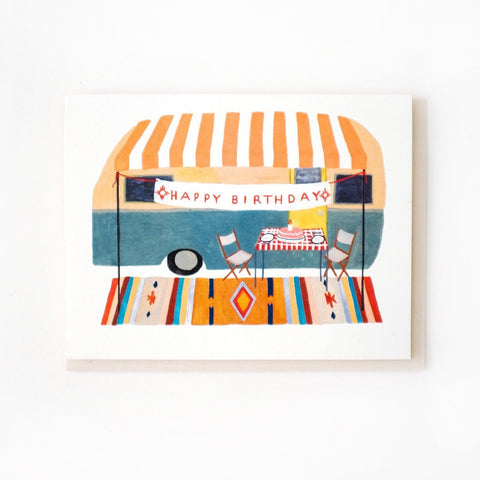 Camper Birthday Card