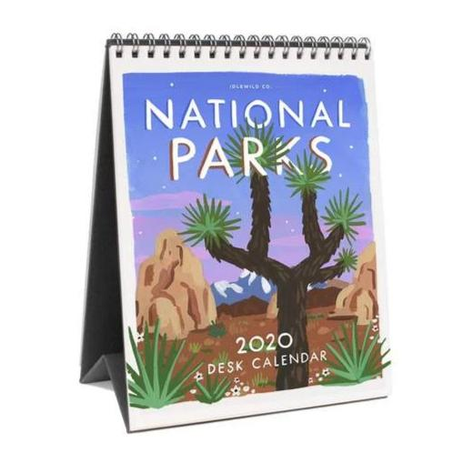 National Parks 2020 Desk Calendar
