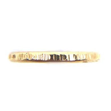Textured Lines Gold Ring