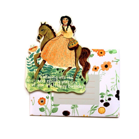 Galloping Birthday Card
