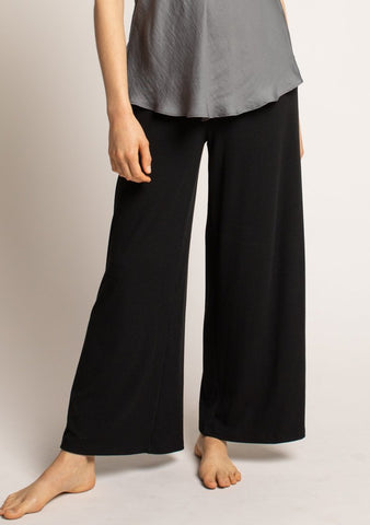 Relaxed Rib Knit Pants
