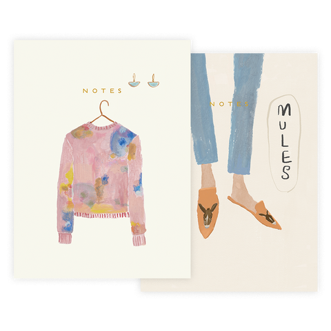 Sweater Half Notebook Set