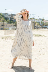 Dash Print Cocoon Dress