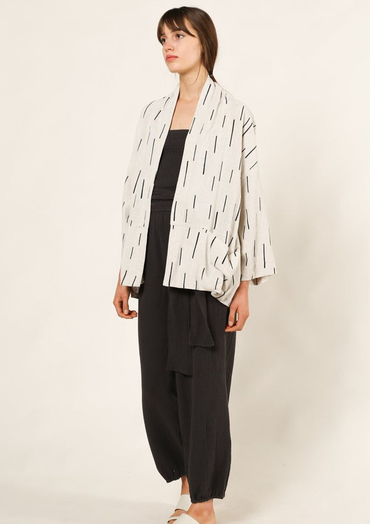 Mika Relaxed Blazer Griege