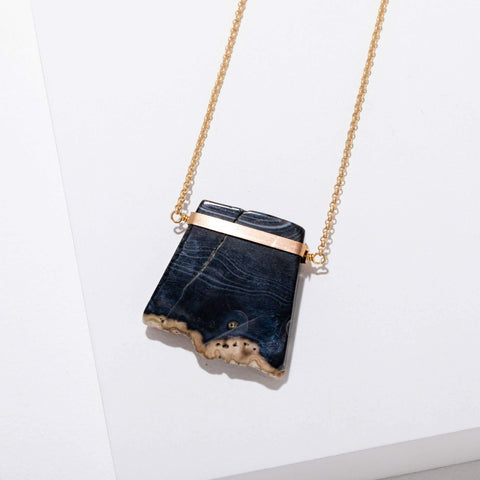 Geraldine Necklace in Black Agate