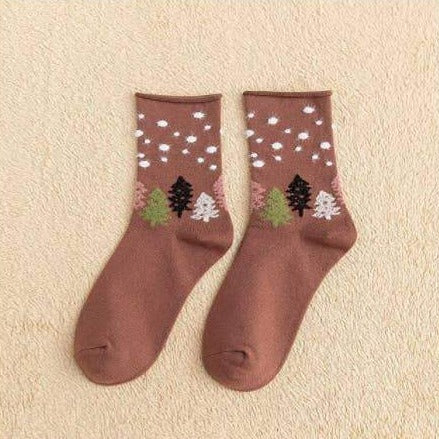 Cloud and Pine Socks Mauve
