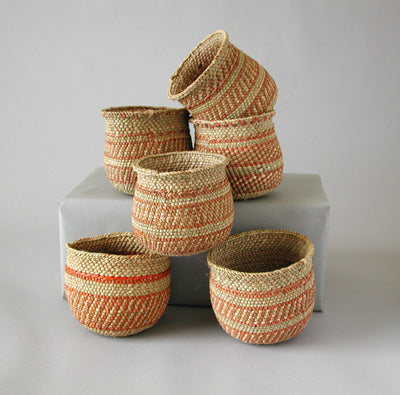 Patterned Iringa Mini Basket