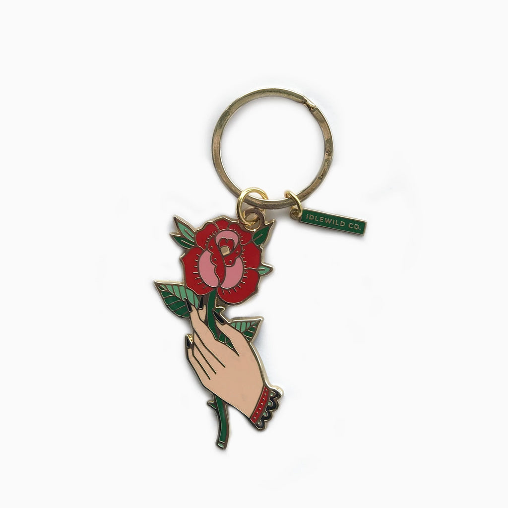 Flash Rose Keychain