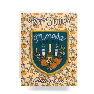 Mimosa Society Patch Card