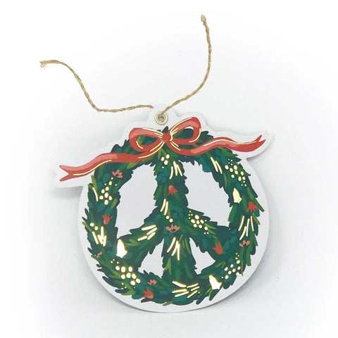 Peace Wreath Gift Tag