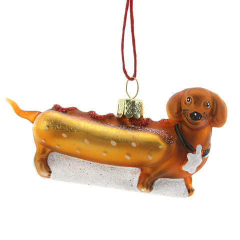 Weiner Pup Hot Dog Ornament
