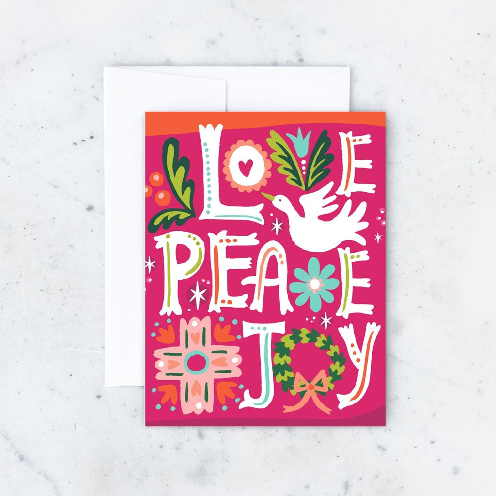 Love Peace Joy Card
