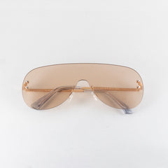 Brown Rimless Shields