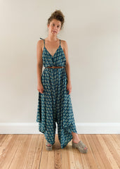 Go-To Jumpsuit Printed Blue Floral