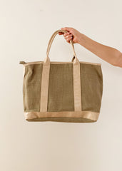 Canvas Tote in Ivory