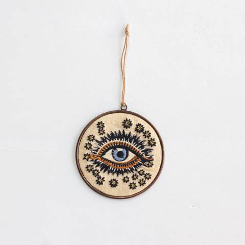 Lucky Eye Disc Ornament 4''