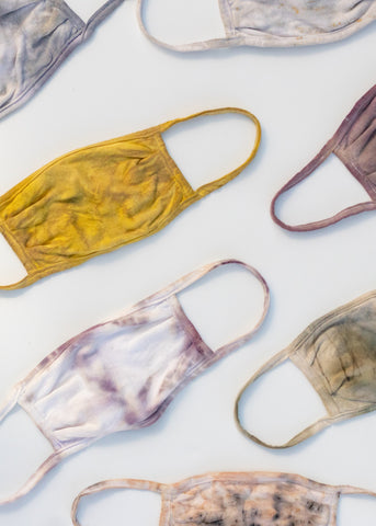 Natural Hand-Dyed Face Coverings