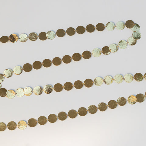 Hammered Brass Garland Gold