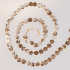 Hammered Brass Garland Rose Gold