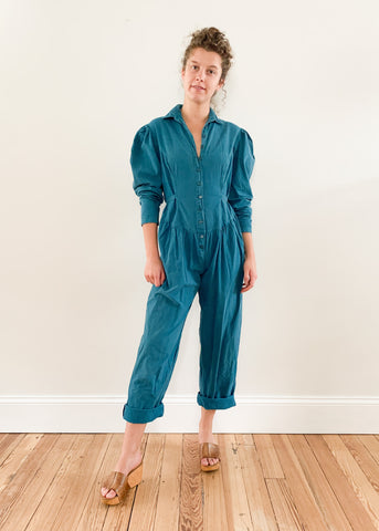 80's Teal Jumpsuit