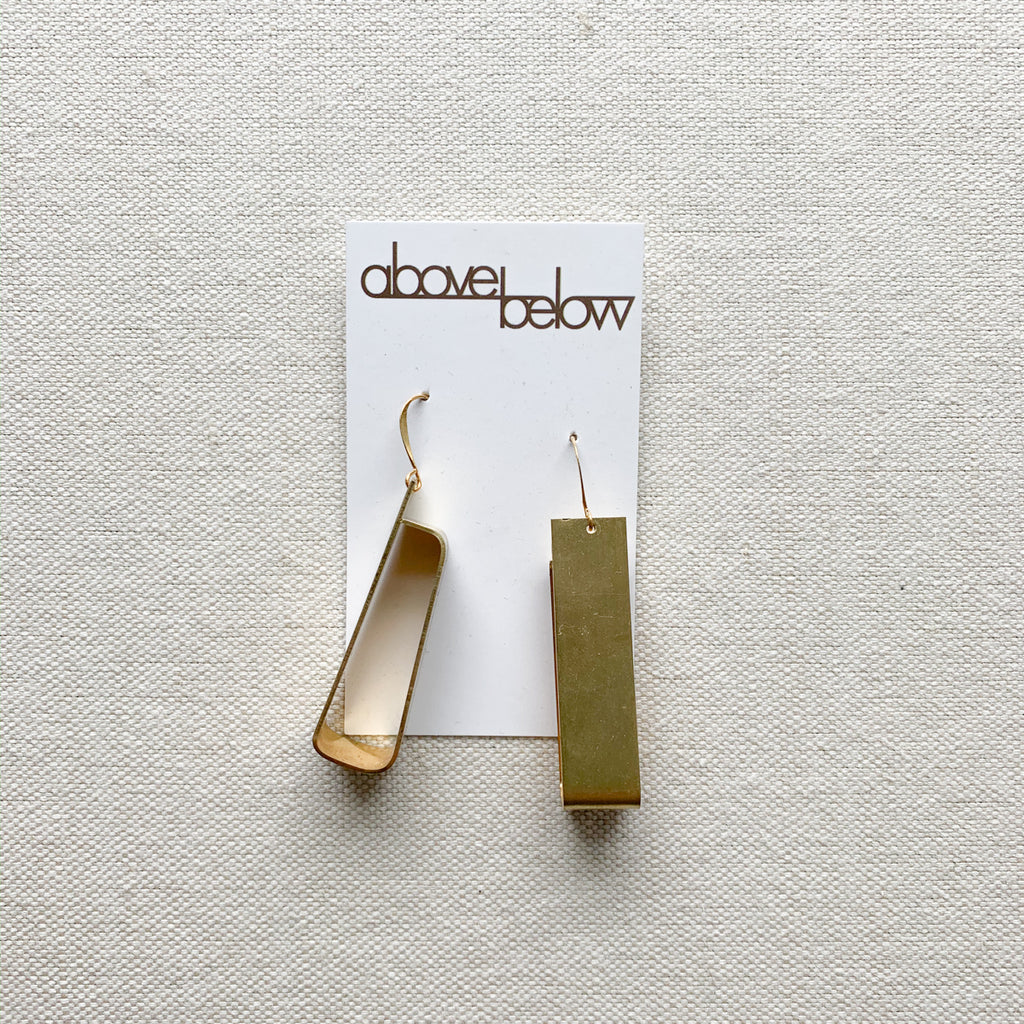 Formed Brass Earrings