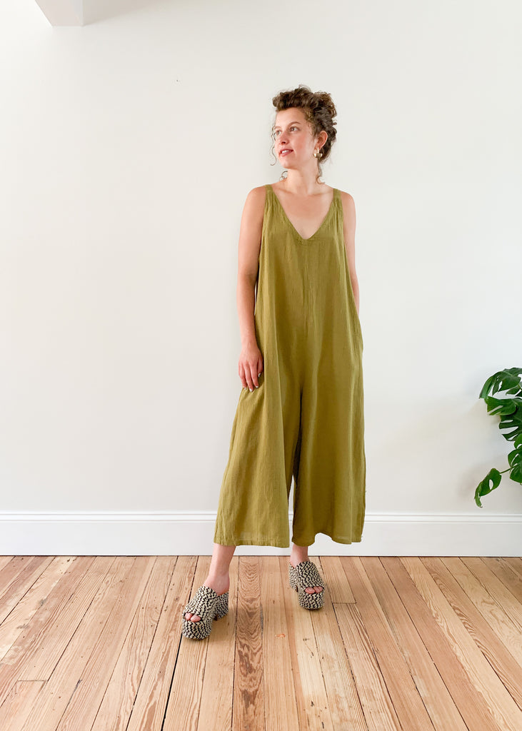 Everyday Jumpsuit in Chartreuse