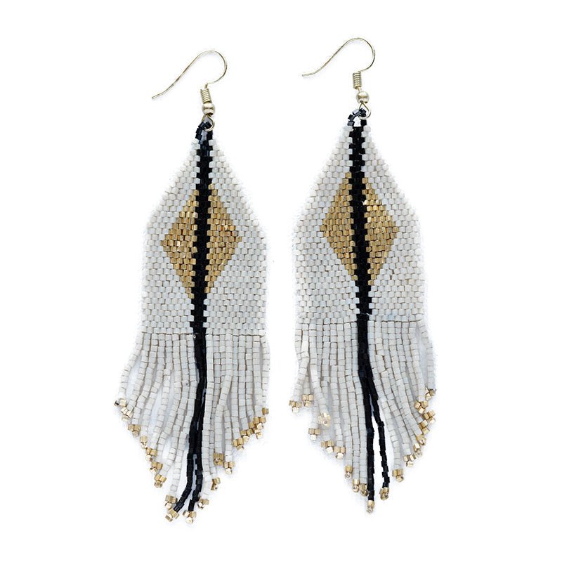 Ivory Gold Luxe Diamond Fringe Earring