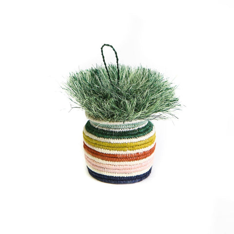 Banded Striped Planter Ornament