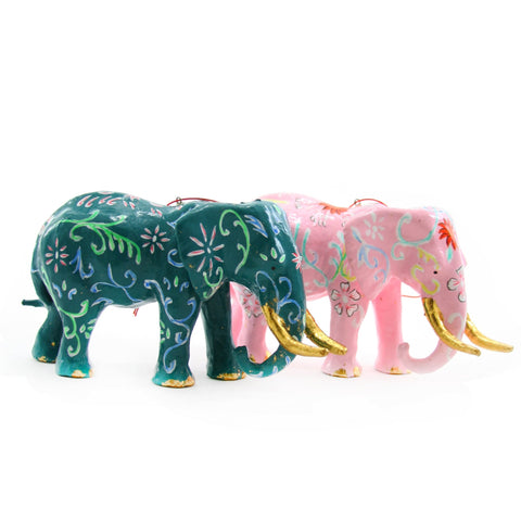 Chinoiserie Elephant Ornament