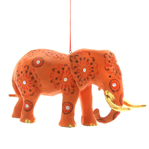 Patterned Elephant Ornament