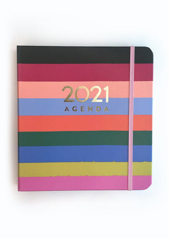 Rainbow Stripe 2021 Planner