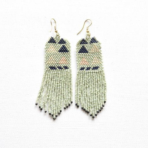 Mint Triangle Seed Bead