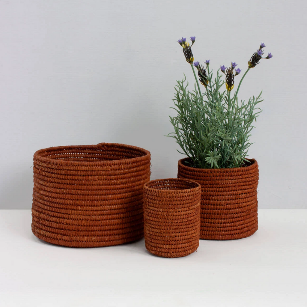 Tobacco Raffia Baskets