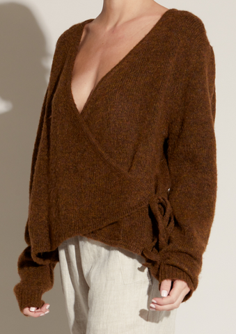 Wrap Sweater in Bronze