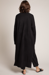 Sleeve Seam Cardigan Black