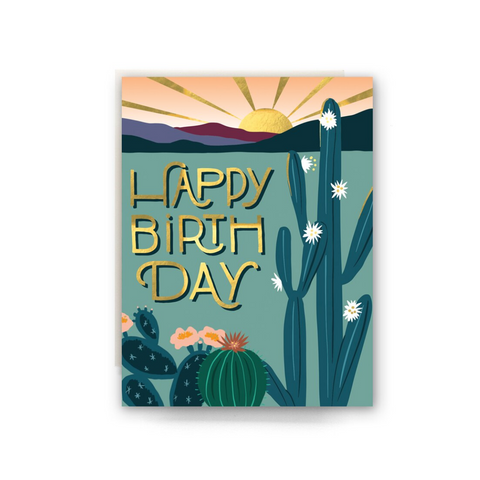 Desert Morning Birthday Card