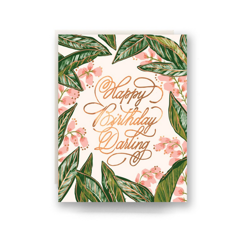 Ginger Blossom Birthday Card