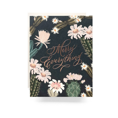 Cactus Blooms Merry Everything Card