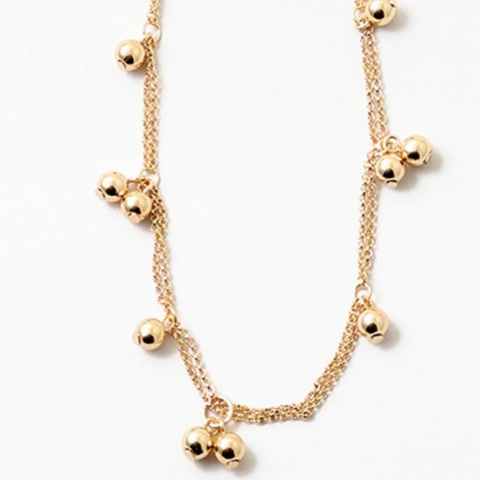 Gold Ball Necklace