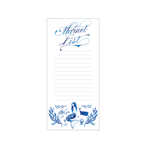 Mermaid Market List Fridge Pad