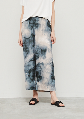 Deep Lake Tie-Dye Wide Pant