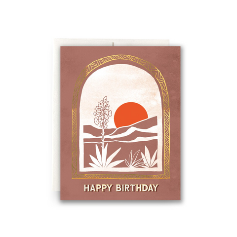Desert Vista Birthday Card