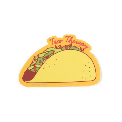 Taco Therapy Sticker