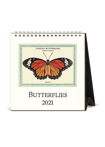 Butterflies Desk Calendar 2021